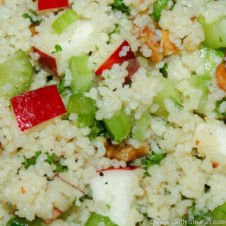 apple walnut couscous