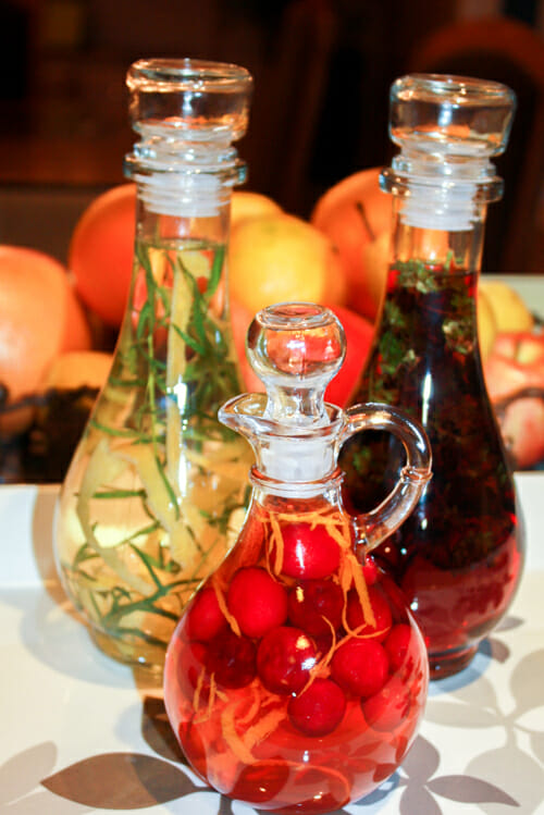 Gifts From The Kitchen Infused Vinegar Getty Stewart Simple Decorative Bottles With Vegetables In Vinegar