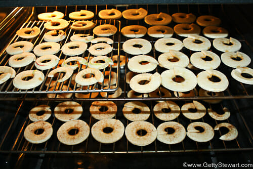 apple rings in oven