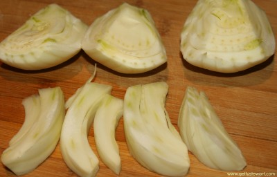wedges and slices of fennel