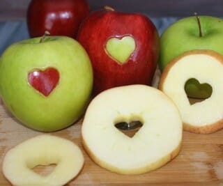 How to Make Heart Shaped Apple Slices