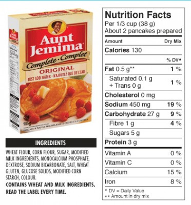 aunt jemima pancake mix instructions