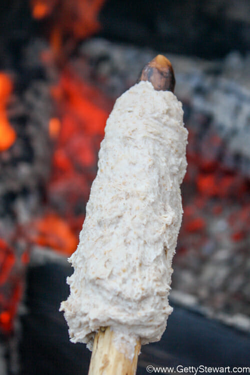 how to make bannock on a stick