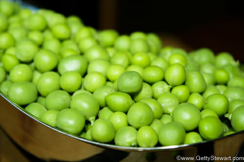 gorgeous peas to freeze peas