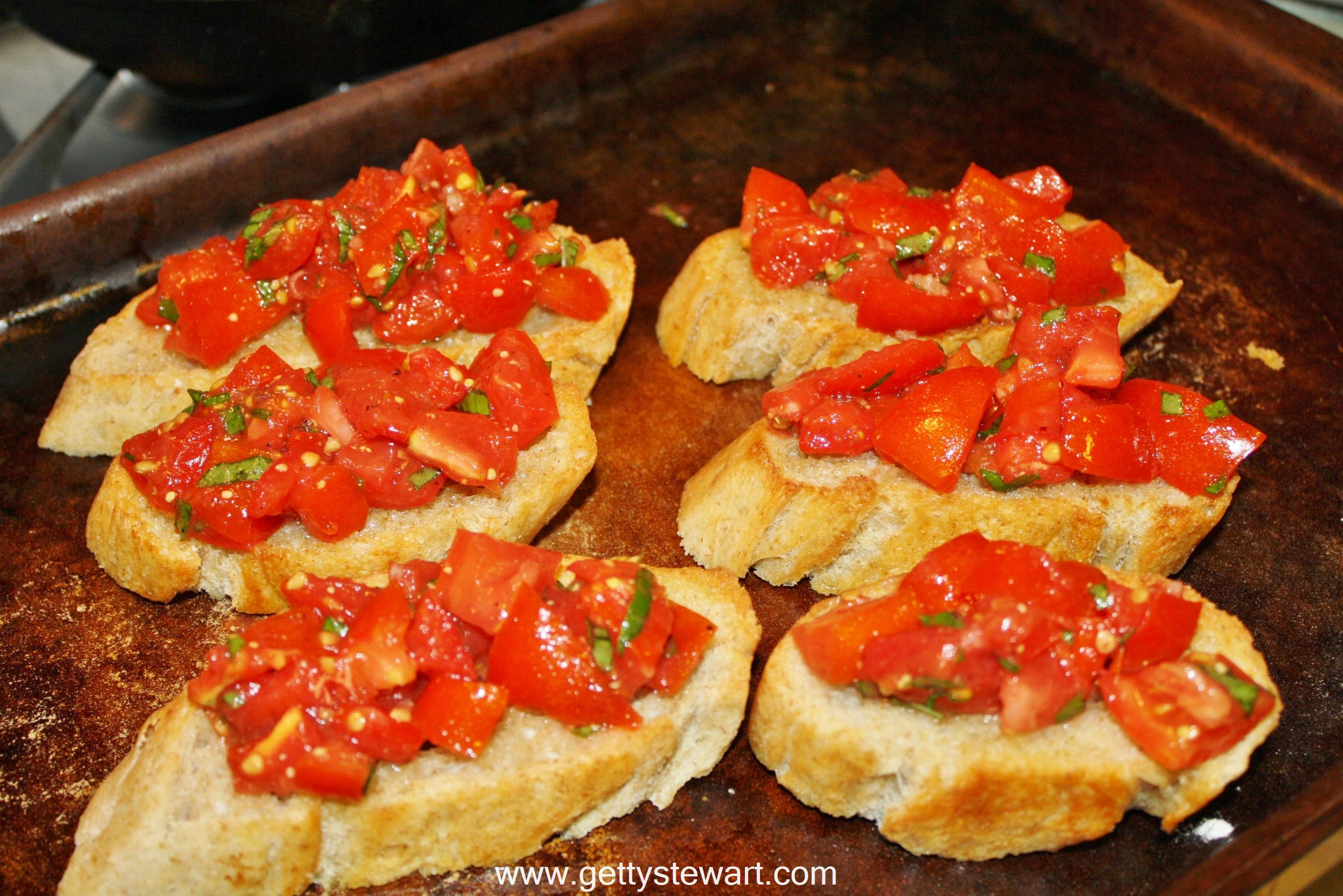how to toast bread in oven for bruschetta