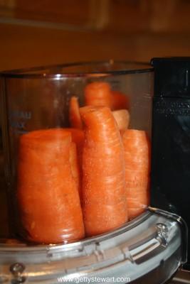 carrots in processor