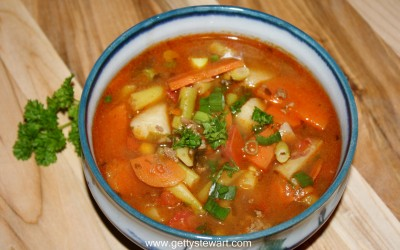 garden vegetable hamburger soup