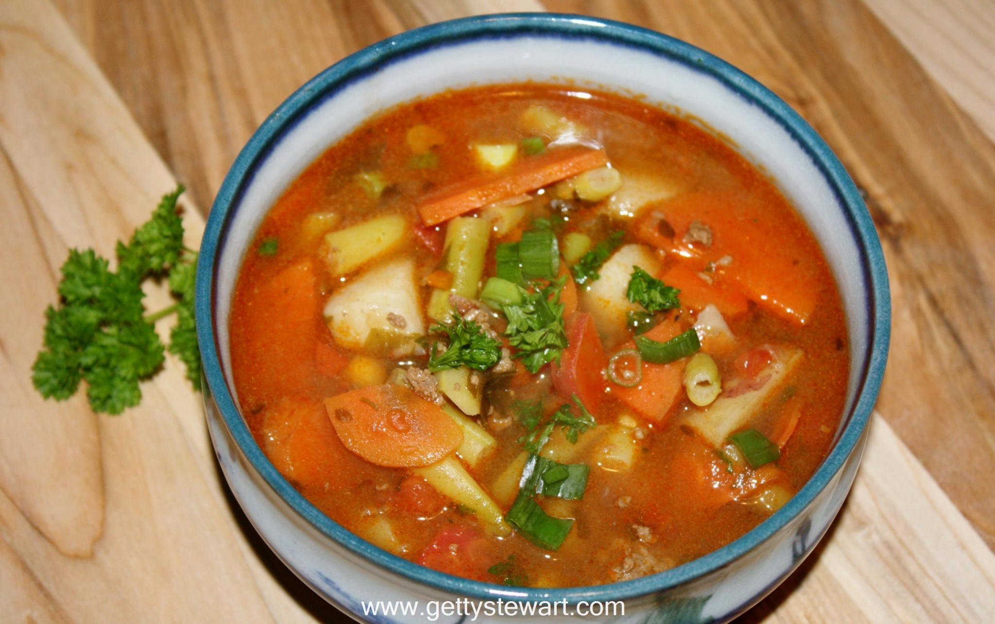 Garden Vegetable Hamburger Soup