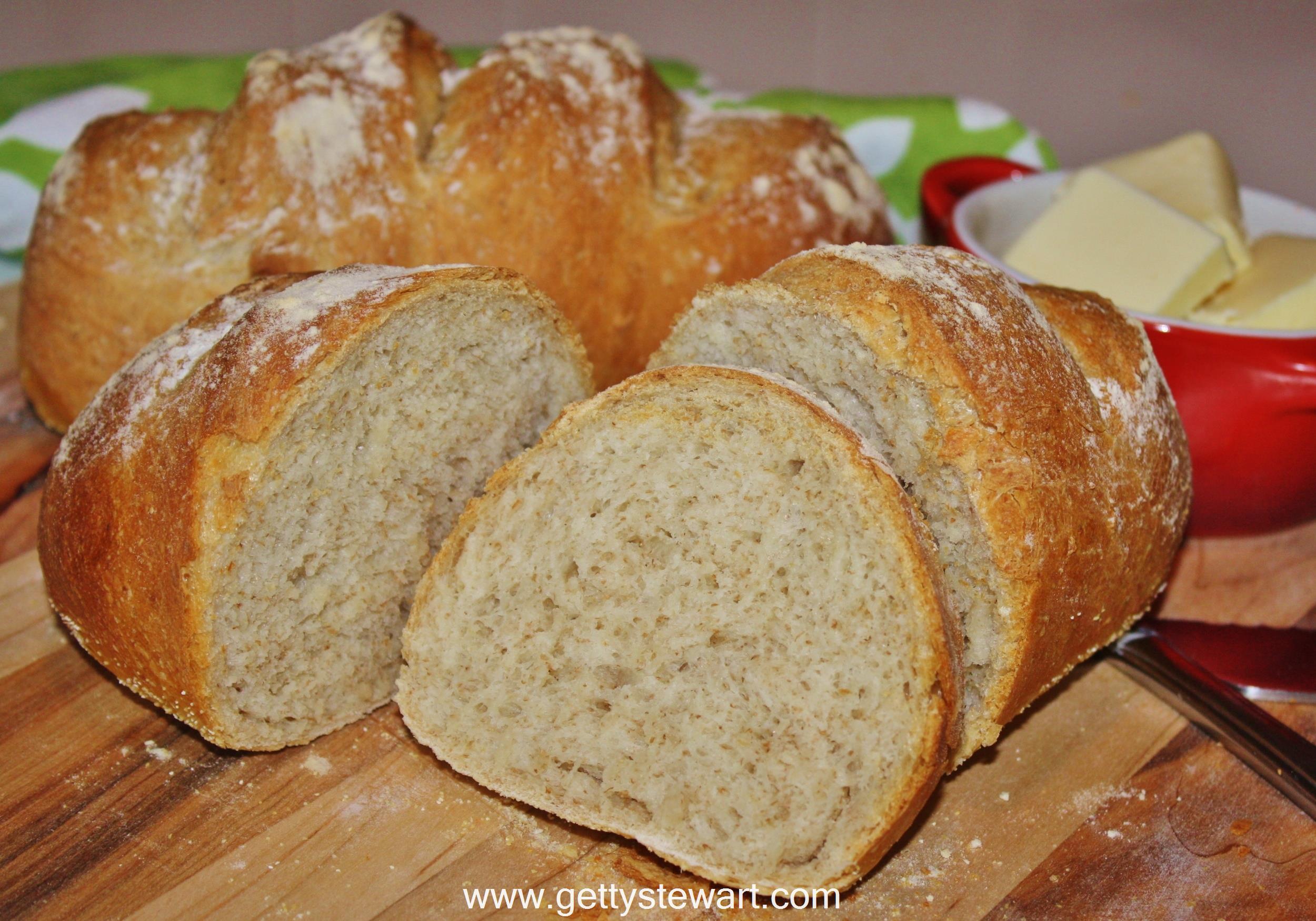 Easy No Knead Bread - Crusty Artisan Bread - Getty Stewart