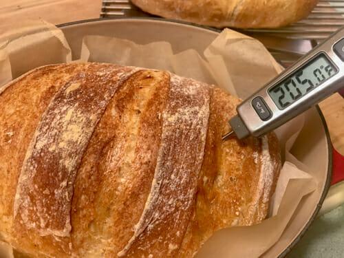 check internal temp of no knead bread