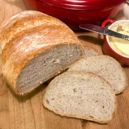 large loaf sliced