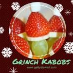 Grinch Kabobs – Healthy Party Treats