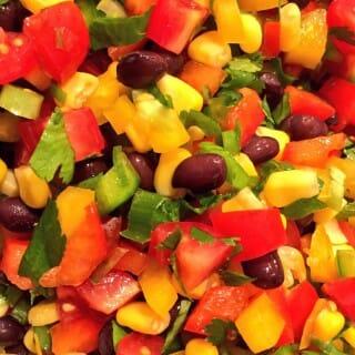 Southwestern Bean and Pepper Salsa or Salad
