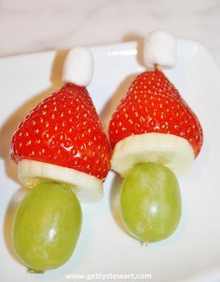 strawberry grinch kabobs