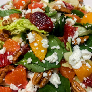 Blood Orange Salad with Goat Cheese and Pecans