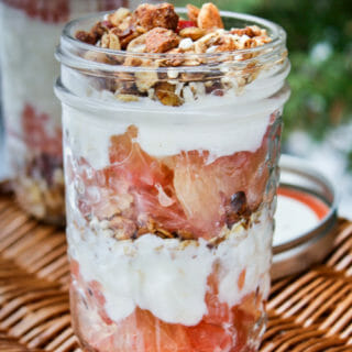 Grapefruit Yogurt Parfait with Homemade Granola