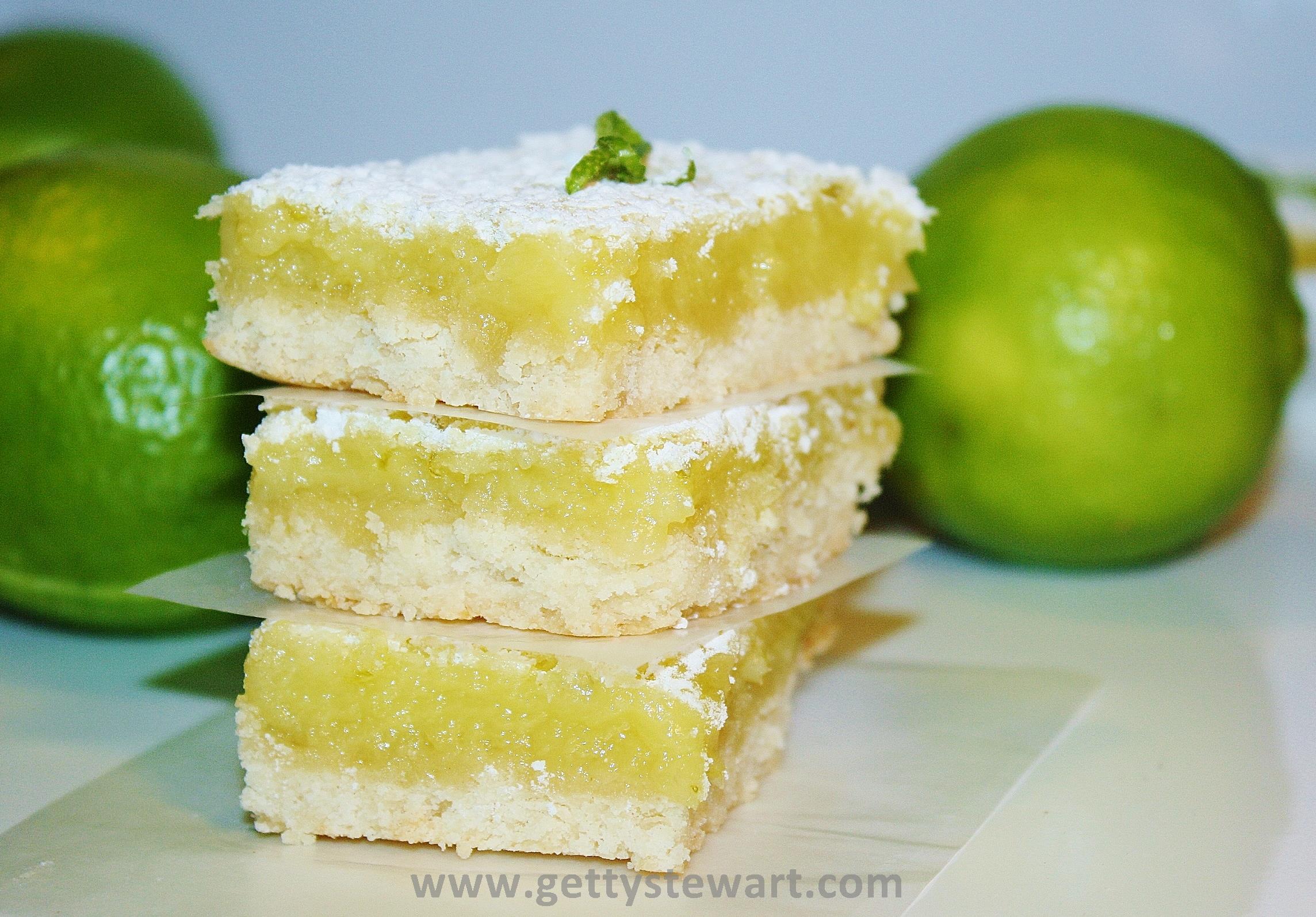 Luscious Lime Bars