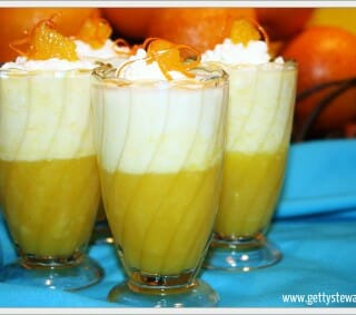 Layered Orange Mousse Parfaits