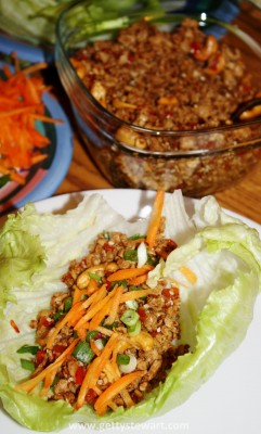 turkey asian lettuce wrap