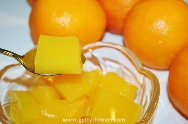 Homemade Orange Jello or Gelatin