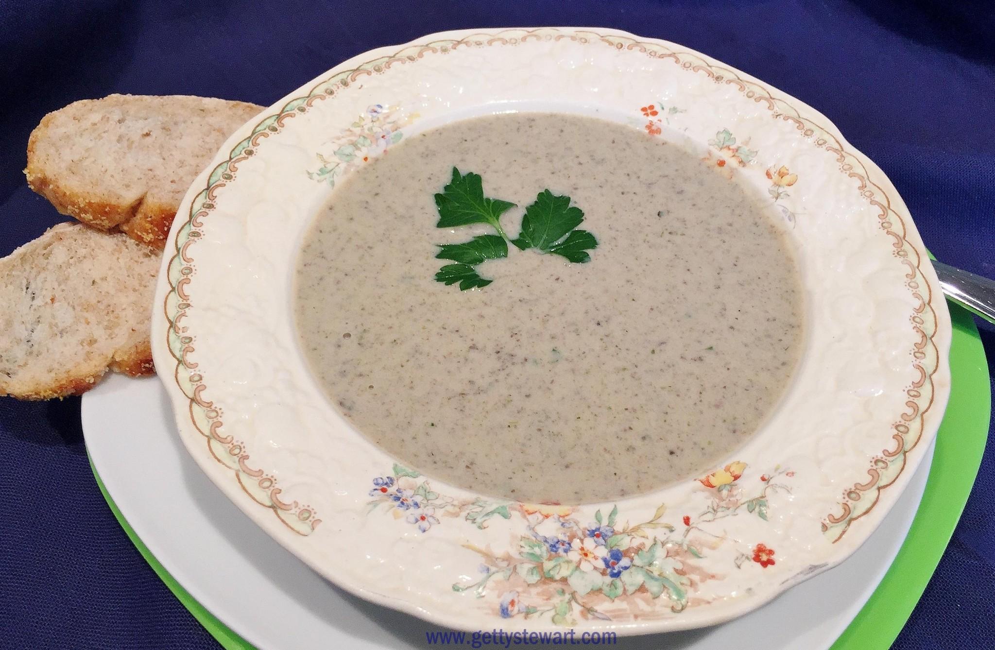 Cream of Mushroom Soup Lightened Up