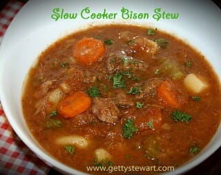 Warm up with Slow Cooker Bison Stew