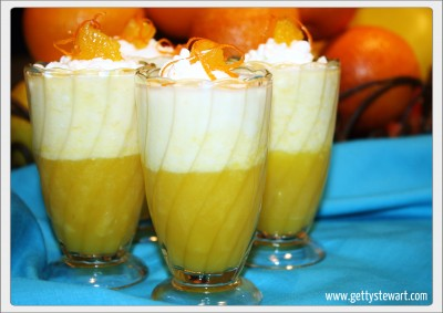 orange gelatin and mousse parfait getty