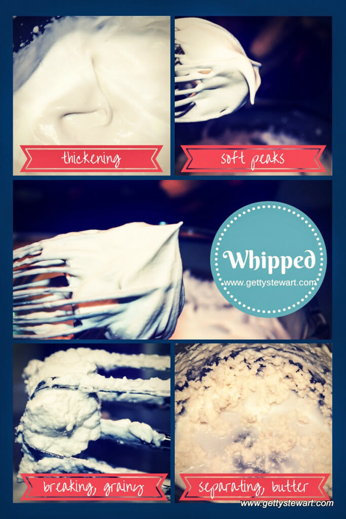 whipped cream stages