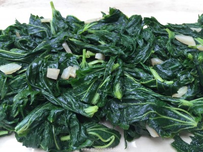 sauteed nettle with garlic - watermarked