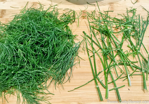 strip dill from stems