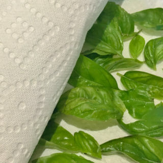 How to Dry Basil in the Microwave