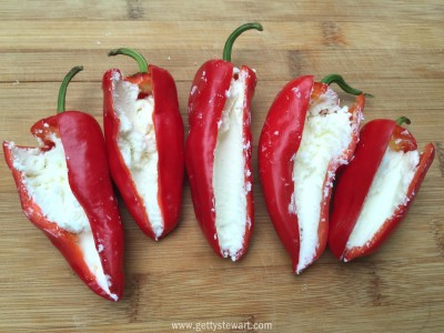 peppers filled with cheese - watermarked