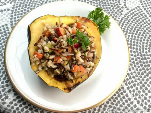 Wild Rice Stuffed Acorn Squash - Getty Stewart