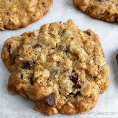 Cranberry chocolate oatmeal cookie
