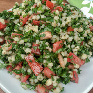 parsley and barley salad plate l