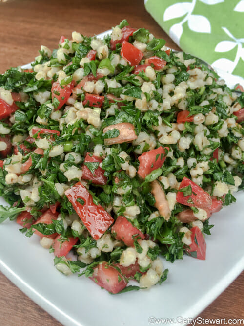 parsley and barley salad plate l