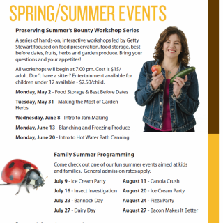 Preserving Summer's Bounty – A Preserving Workshop Series