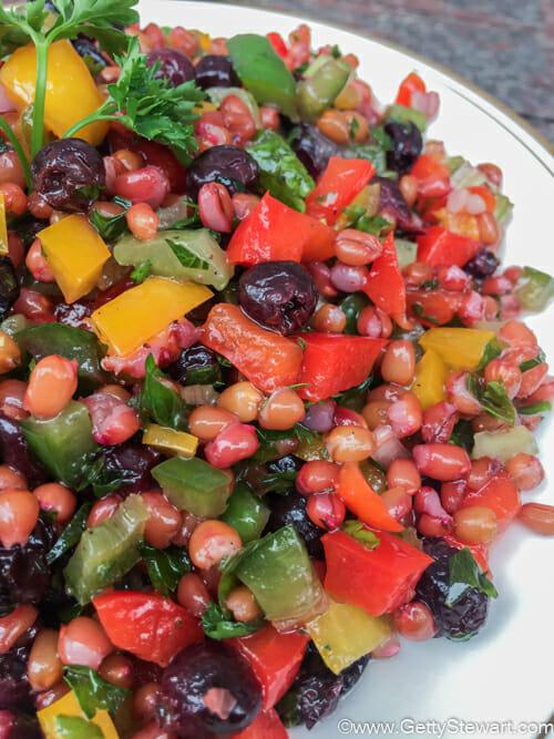 saskatoon wheatberry salad l