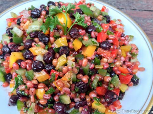 saskatoon wheatberry salad w