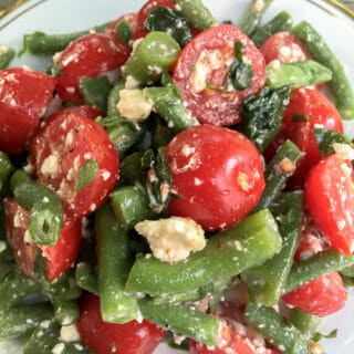 green bean tomato feta salad l