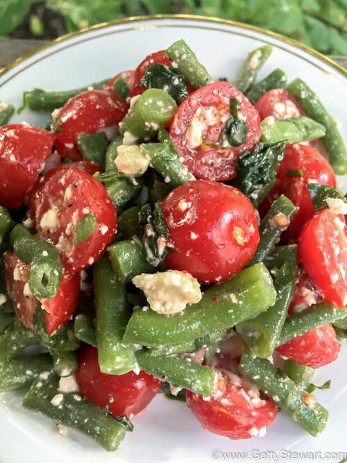 green bean tomato feta salad l