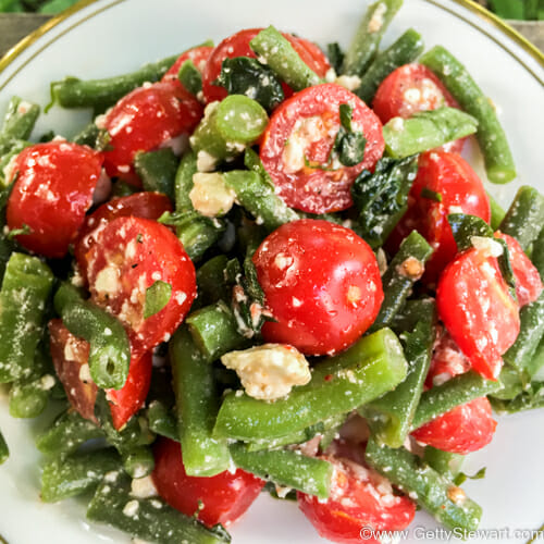 Green Bean, Tomato and Feta Salad - Getty Stewart