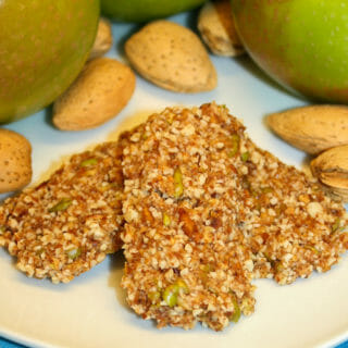 raw apple almond bar