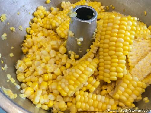 large bits of corn tube pan