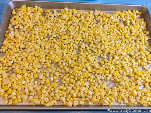 flash freezing corn