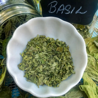 crumbled dried basil