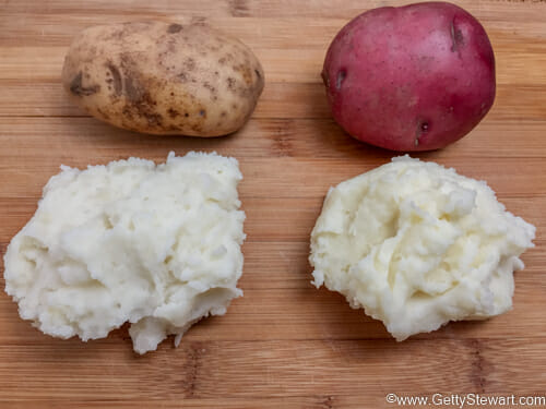 red or russet mashed potatoes