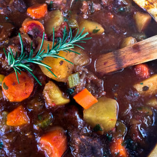 Beef Stew with Red Wine – In the Oven