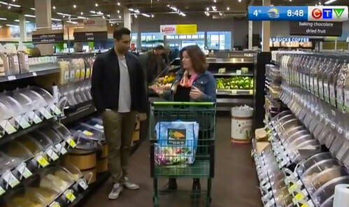 grocery shopping with CTV