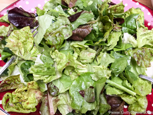 dress greens for roasted beet salad